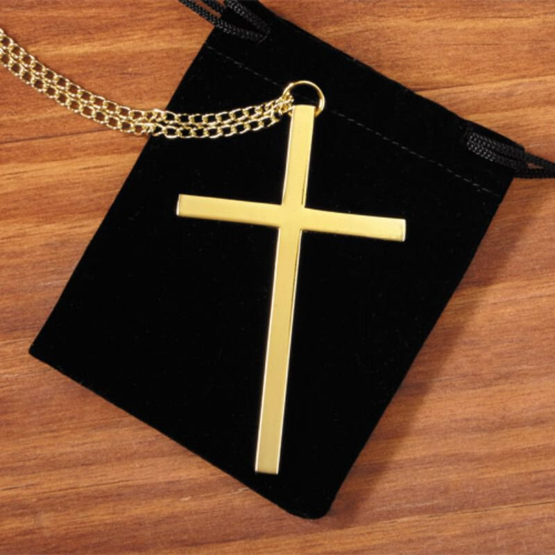 Gold Clergy Cross - 3/pk