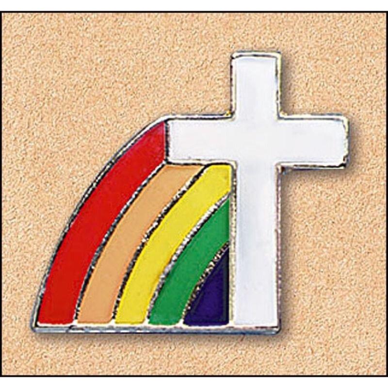 Cross/Rainbow Pin - 25/pk