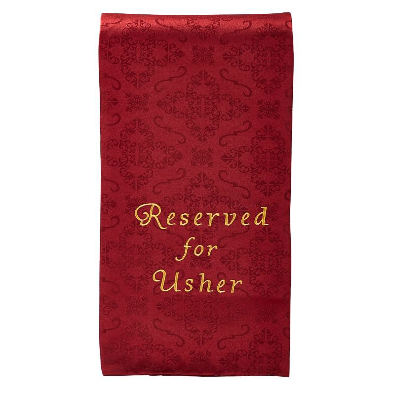 Pew Reserved Cloth for Usher