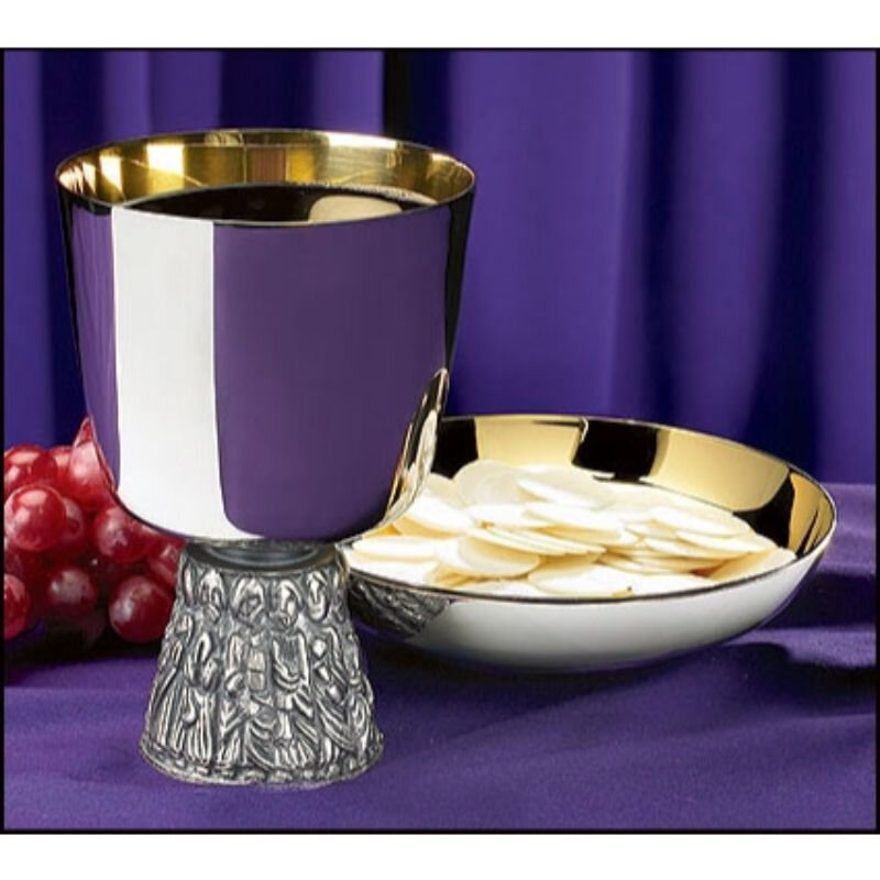 Last Supper Chalice with Bowl Paten