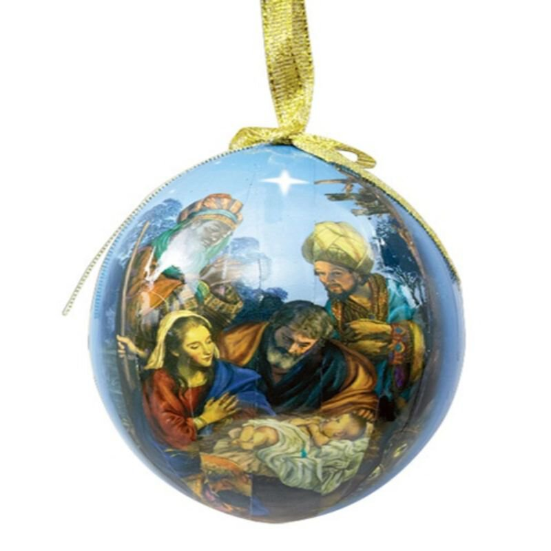 For We Have Seen His Star Decoupage Ornament