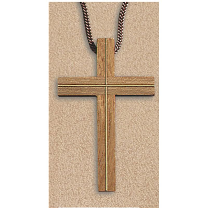 Cross with Inlay Pendant - 6/pk