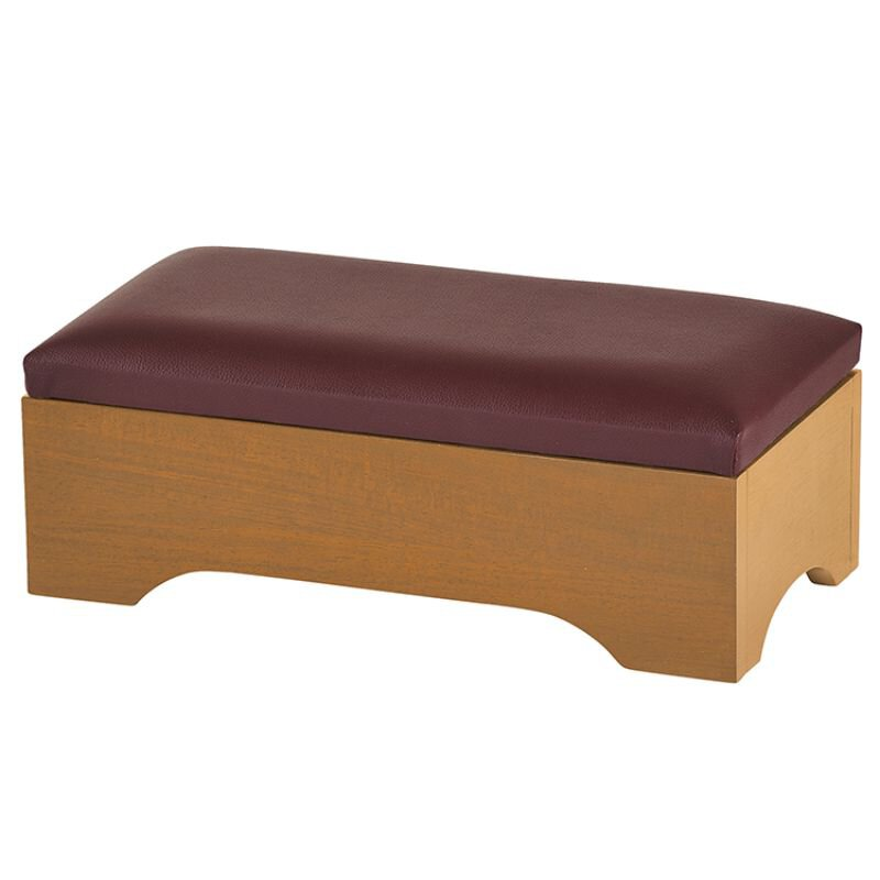 Personal Kneeler with Storage - Pecan Stain