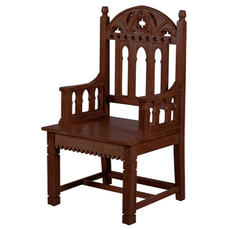 Gothic Collection Celebrant Chair - Walnut Stain