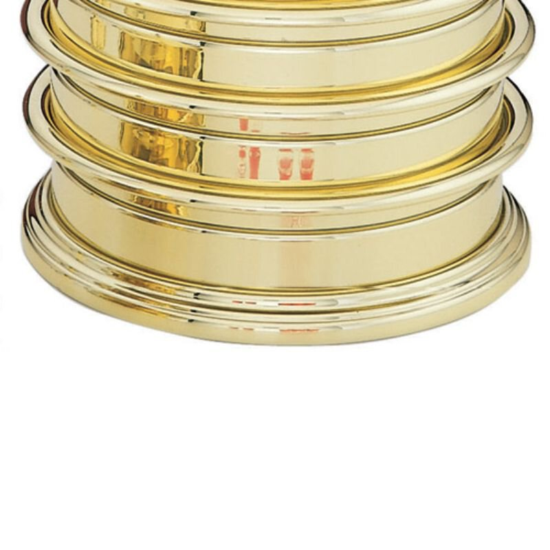 Highly Polished Solid Brass Communion Tray Base