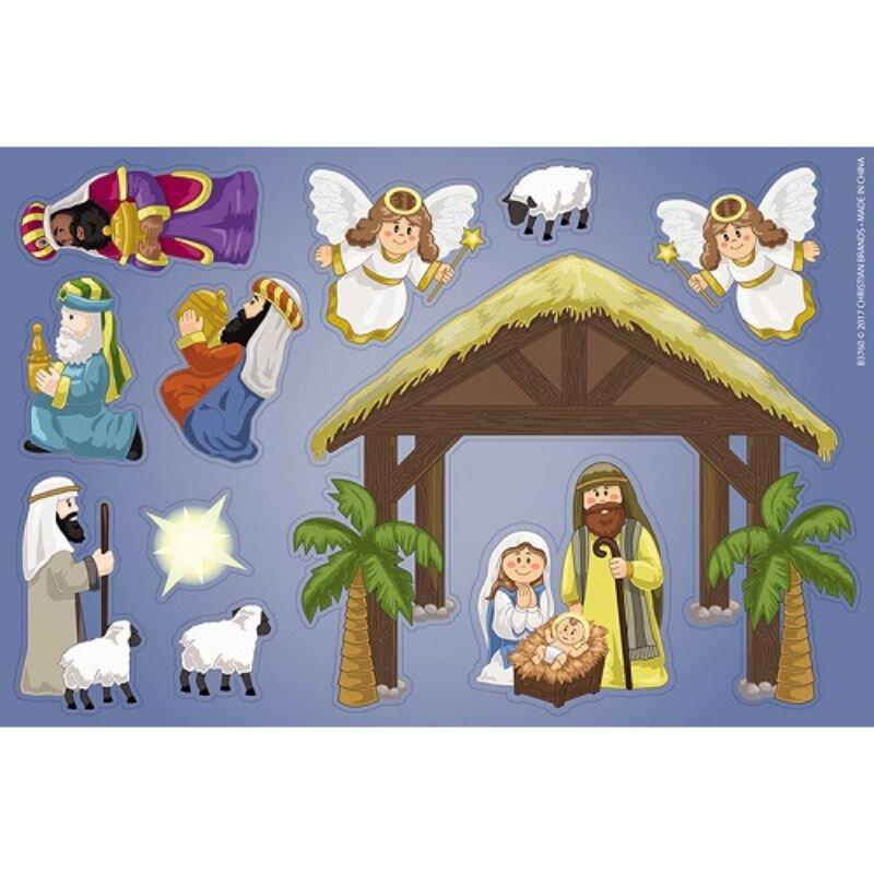Nativity Magnet Set - 12 sheets/pk