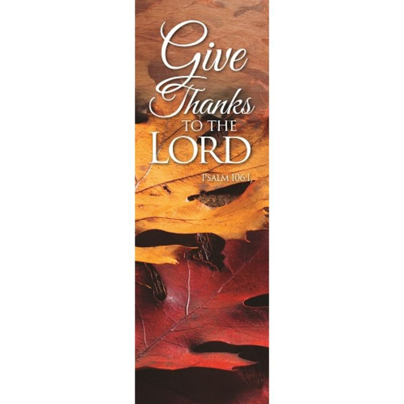Harvest Series Banner - Give Thanks to the Lord