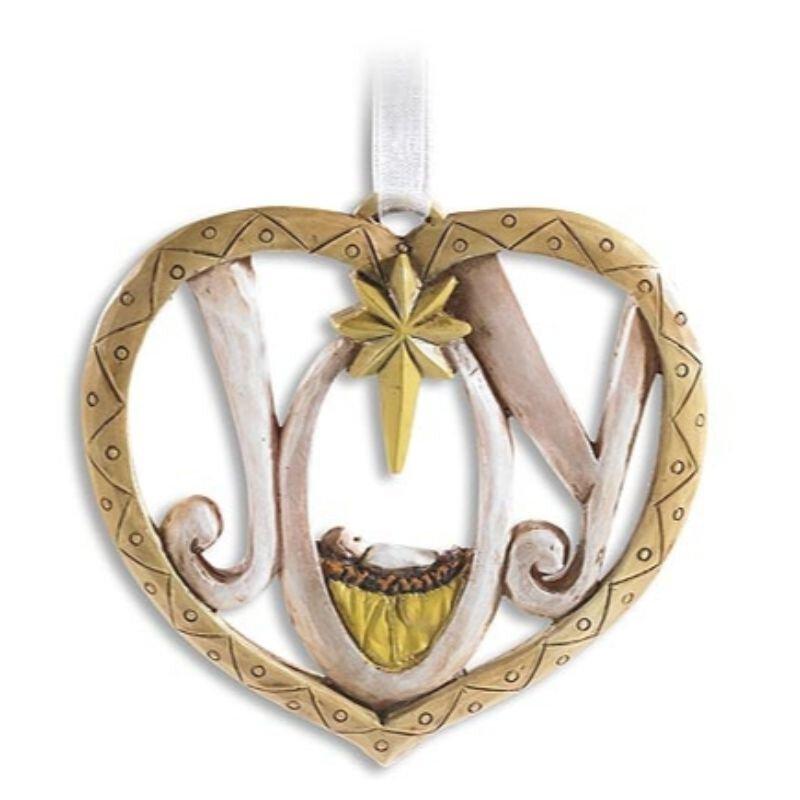 Joy Heart Ornament - 6/pk