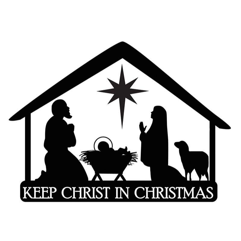 Nativity Stable Christmas Auto Magnet - 24/pk