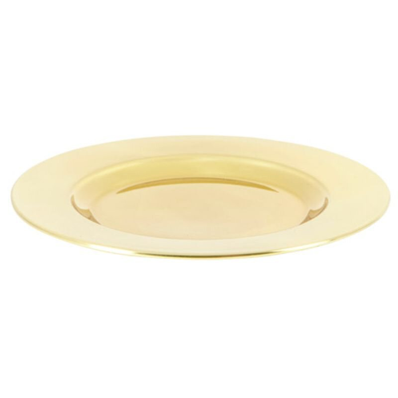 Highly Polished Solid Brass Bread Plate