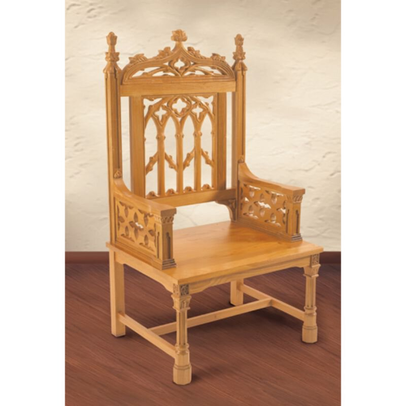 Canterbury Collection Celebrant Chair - Medium Oak Stain