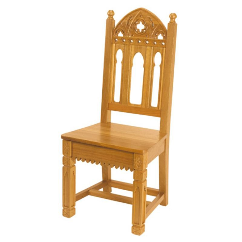 Gothic Collection Side Chair - Medium Oak Stain