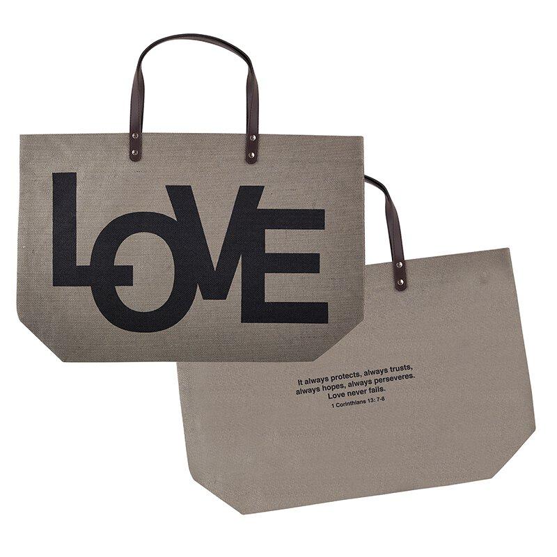 Large Jute Bag - LOVE