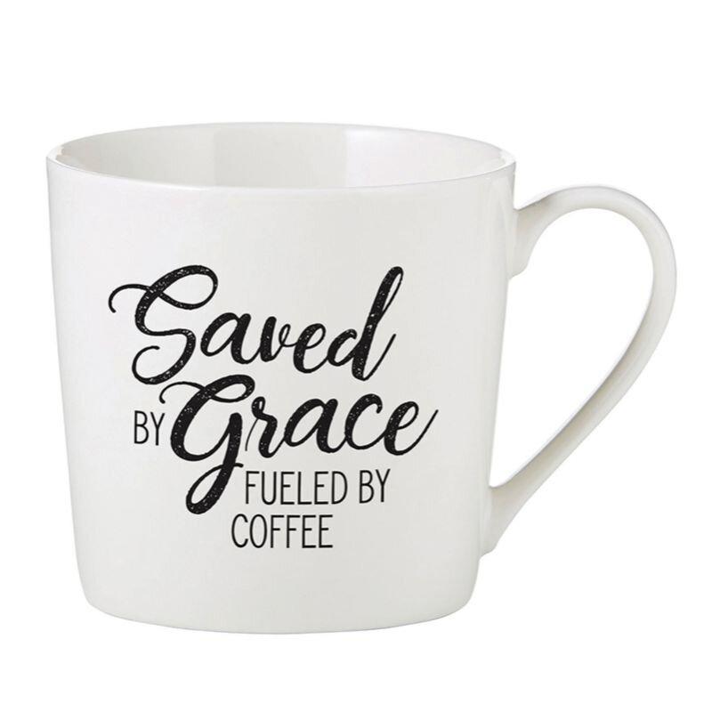 Saved by Grace Cafe Mug