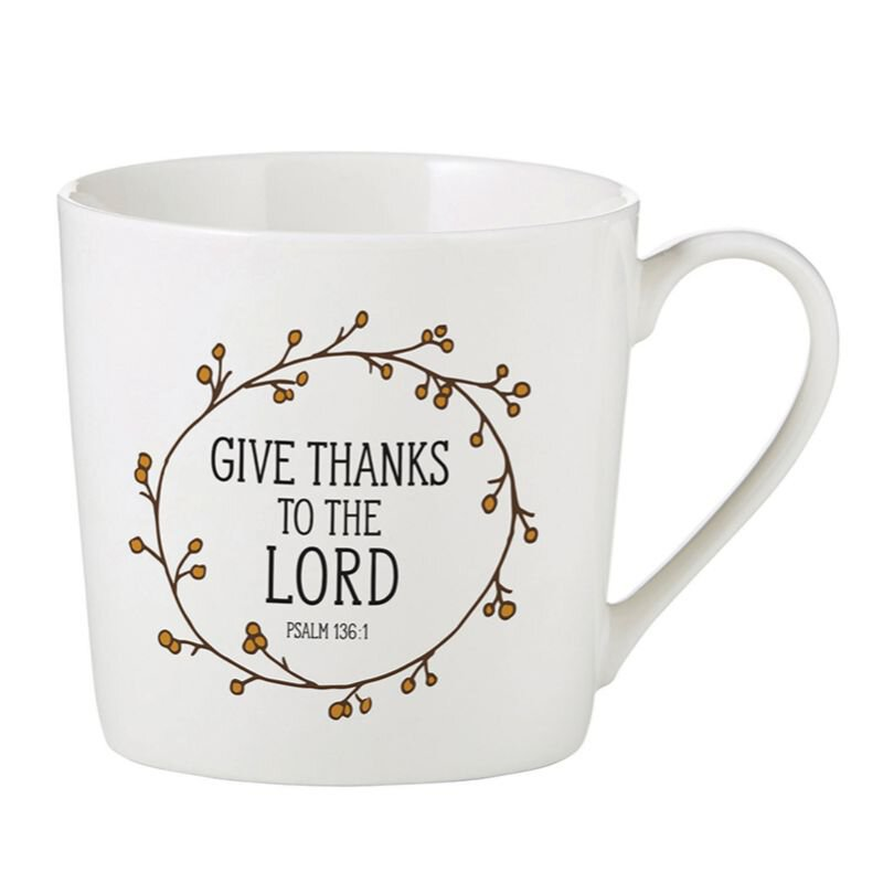 Give Thanks to the Lord Cafe Mug