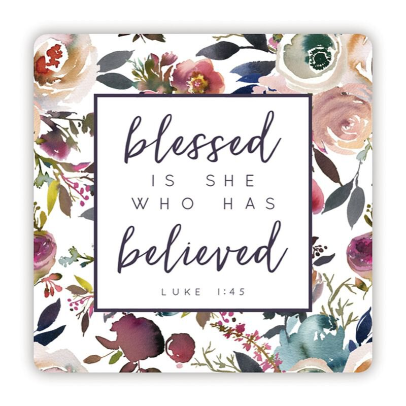 8 pk Blessed is She Who Has Believed Tote Bag with Inside Pocket