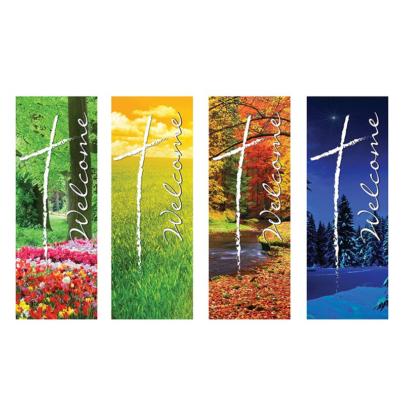 Welcome Series X-Stand Banners - Set of 4