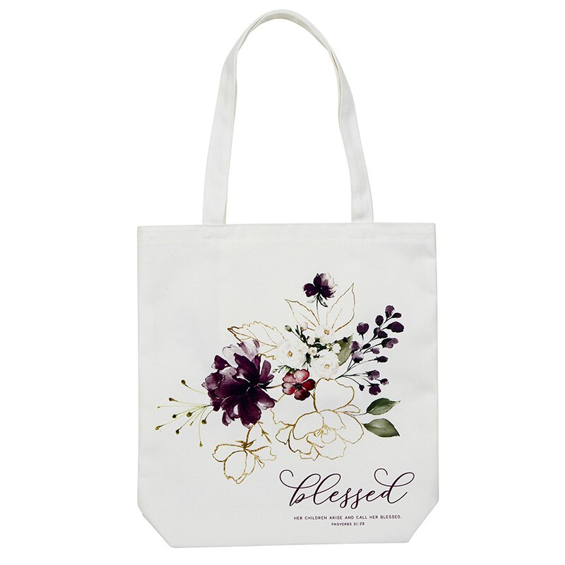 Blessed Tote Bag with Inside Pocket - 8/pk