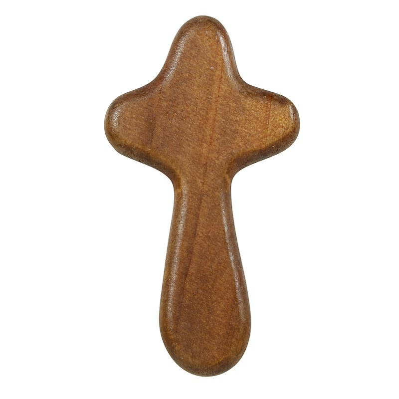 Dark Brown Hand-Held Prayer Cross - 12/pk