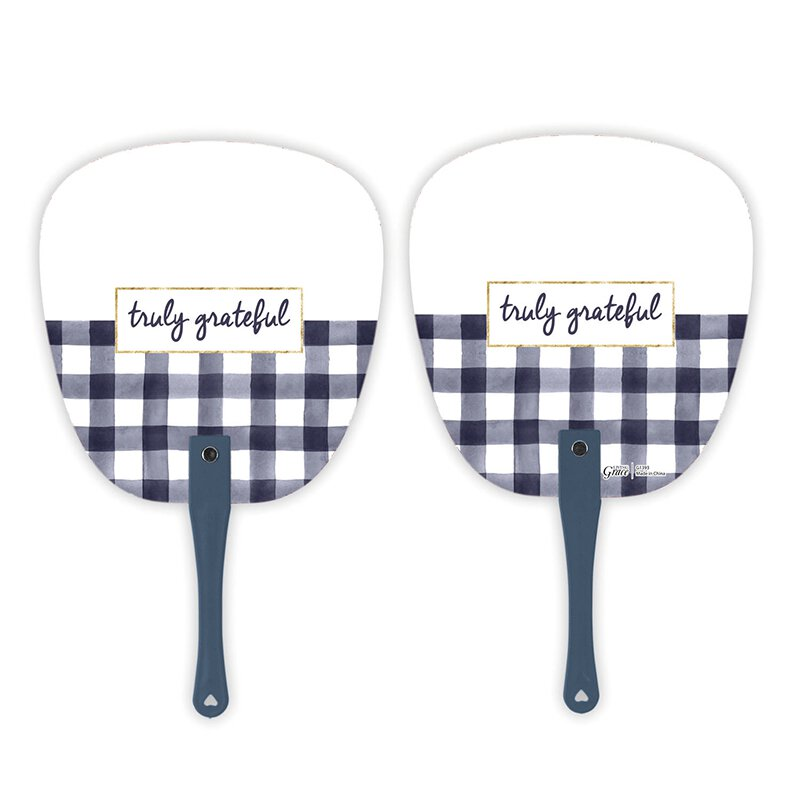 Truly Grateful Hand Fan - 24/pk