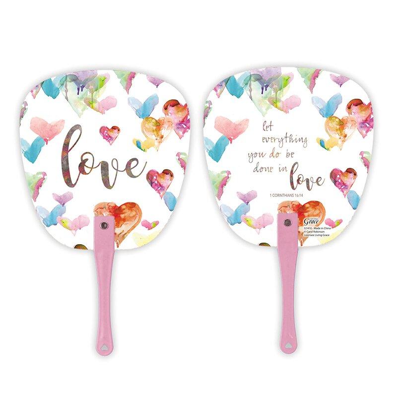 Done in Love Hand Fan - 24/pk