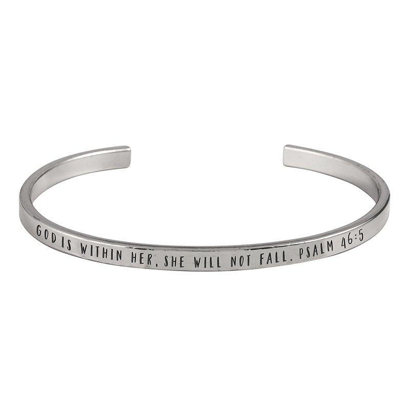 God is Within Her Bracelet - 6/pk