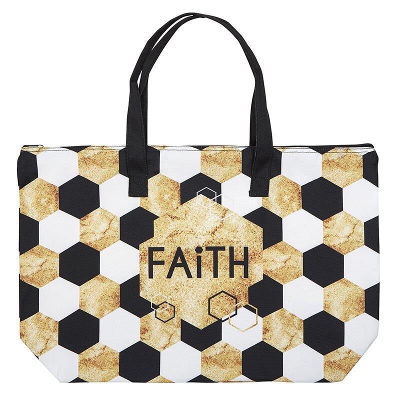Faith Zipper Tote - 2/pk
