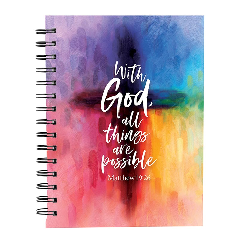 With God All Things are Possible Notebook Journal - 6/pk