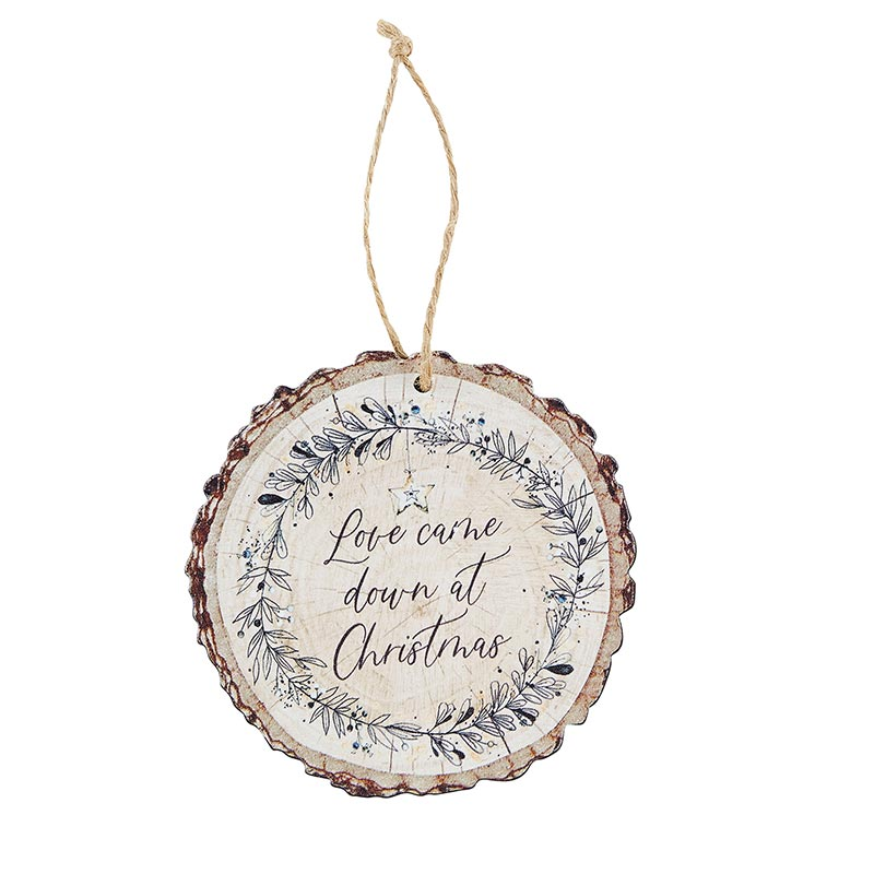 Love Came Down at Christmas Wood Slice Ornament - 12/pk