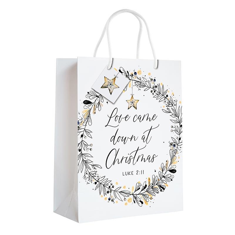 Love Came Down at Christmas Gift Bag - 12/pk