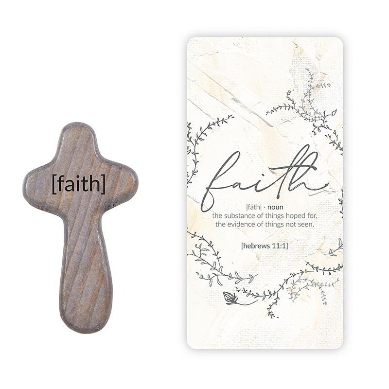Faith Hand-Held Prayer Cross with Card - 12/pk