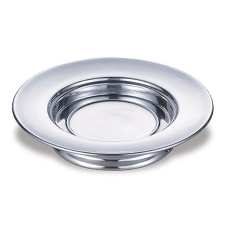 Polished Aluminum Stacking Bread Plate - Silver Tone
