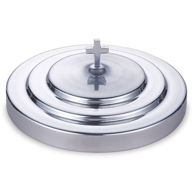 Polished Aluminum Communion Tray Cover - Silver Tone