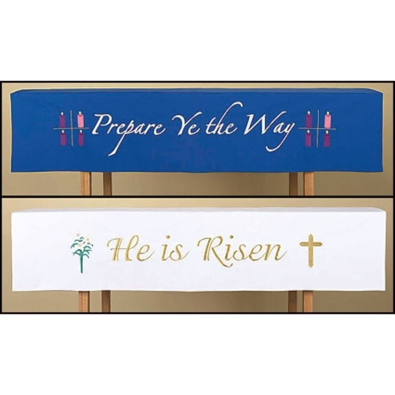 Reversible Holiday Altar Frontal