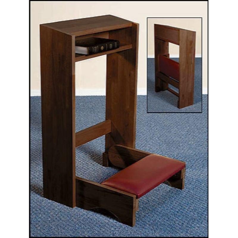 Folding Padded Kneeler - Walnut Stain