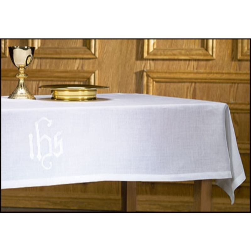 100% Linen IHS Altar Frontal