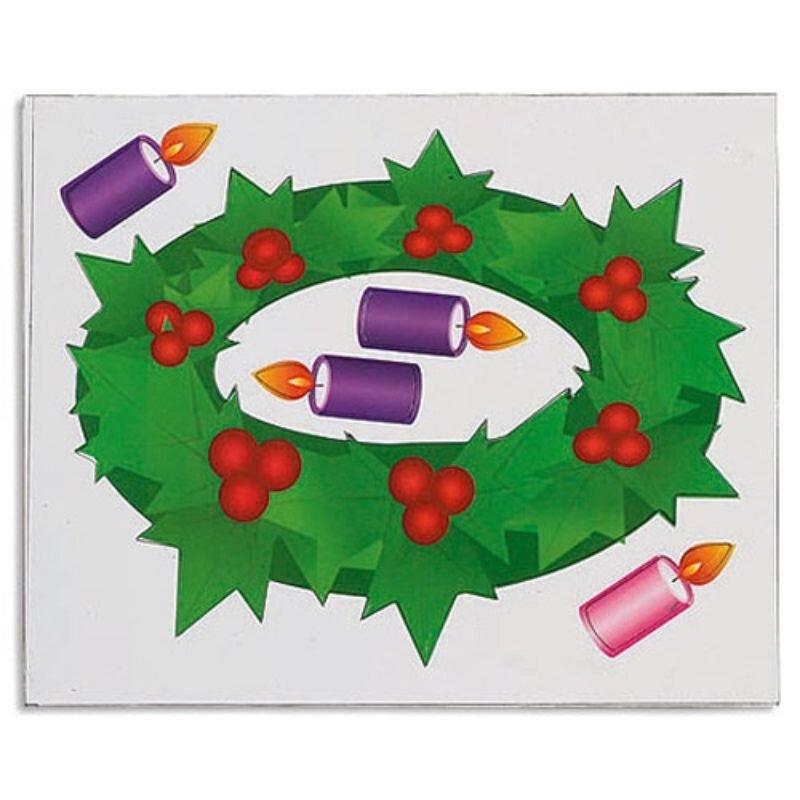 Advent Wreath Magnet Set