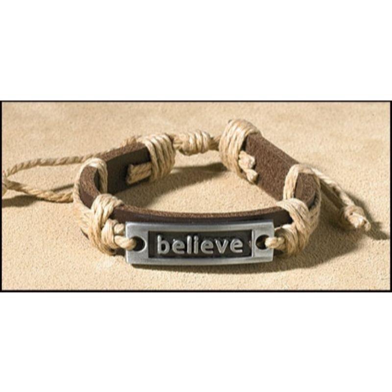 Believe Inspirational Bracelet - 12/pk