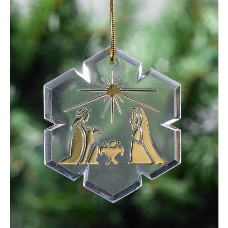 Nativity Snowflake Ornament - 48/pk