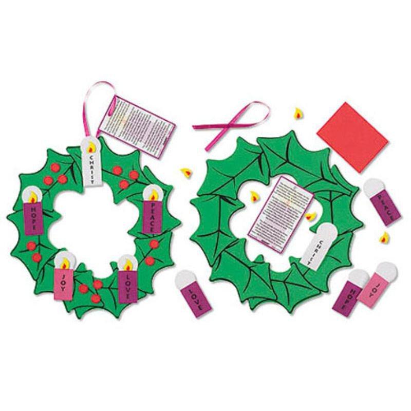 Hanging Advent Wreath Craft Kit