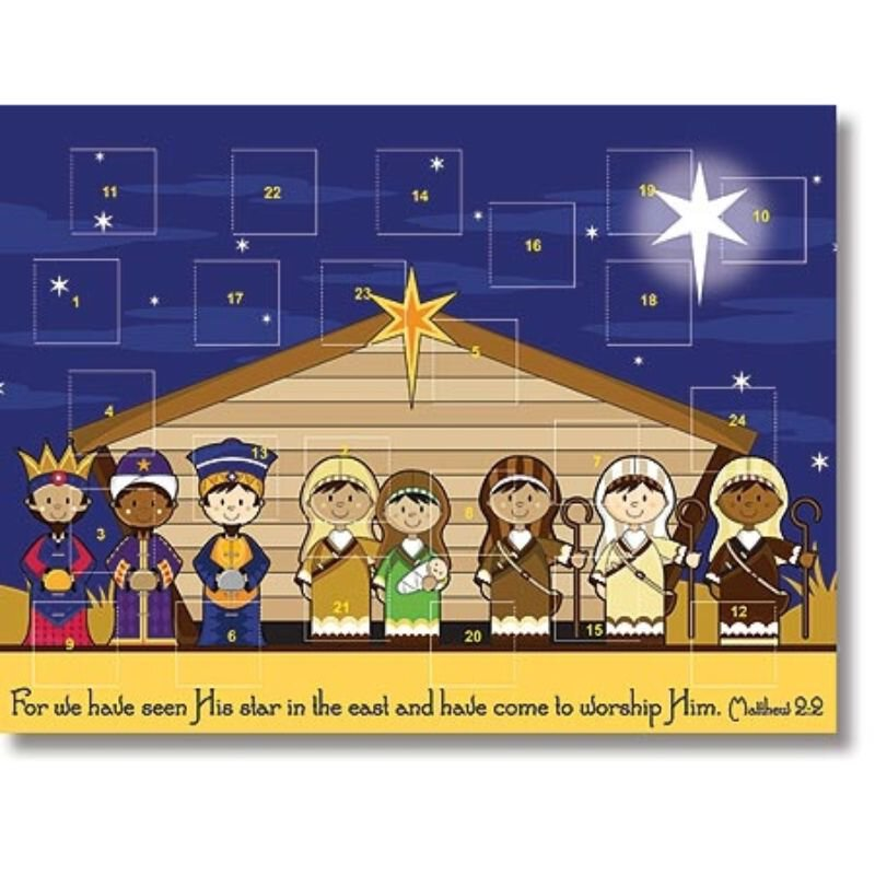 Kids Stable Nativity Advent Calendar