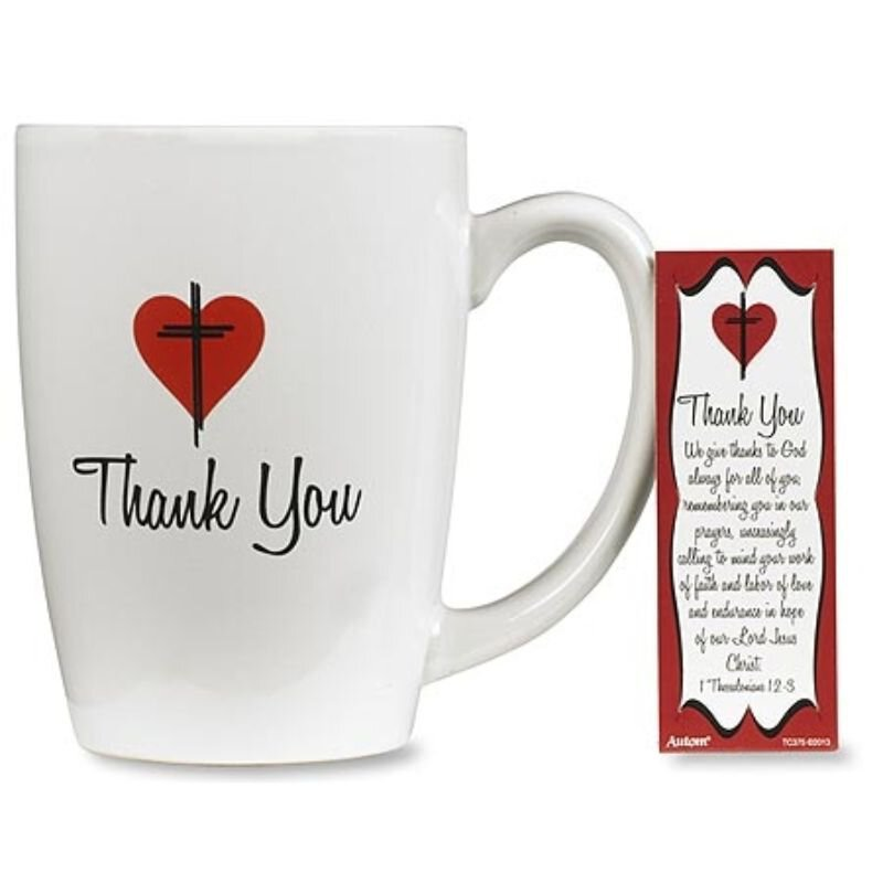 Thank You Gift Mugs with Bookmarks - 4/pk