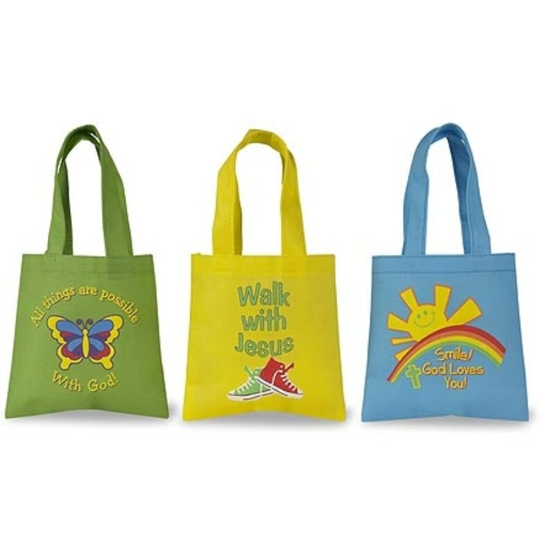 Children's Tote Bag Assortment - 36/pk