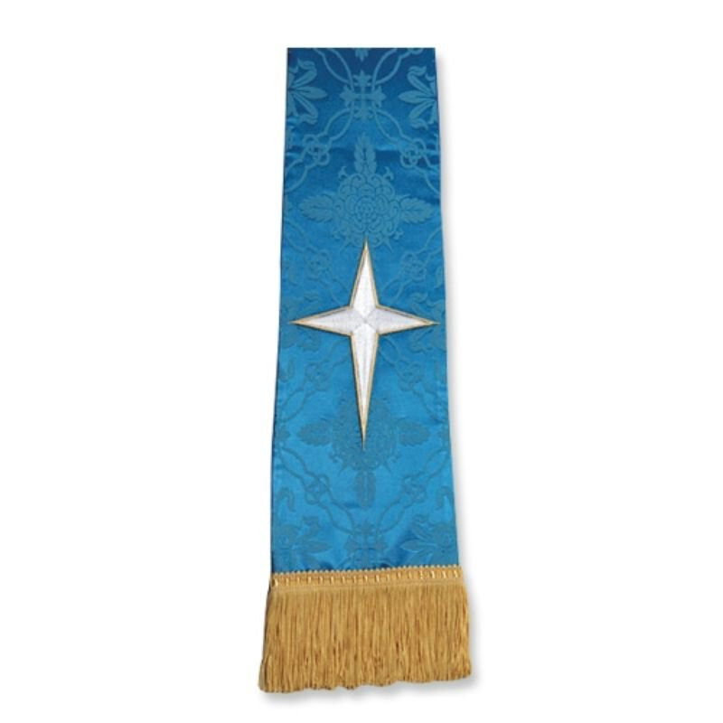 Blue Stole with Star Cross