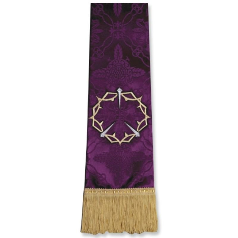 Purple Stole with Crown/Thorns