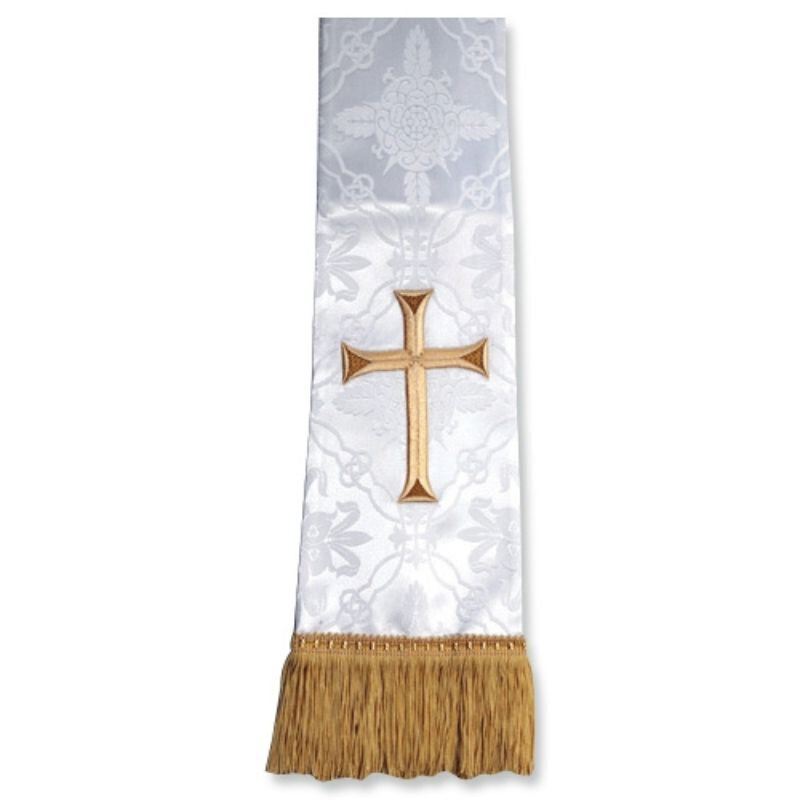 White Stole with Cross