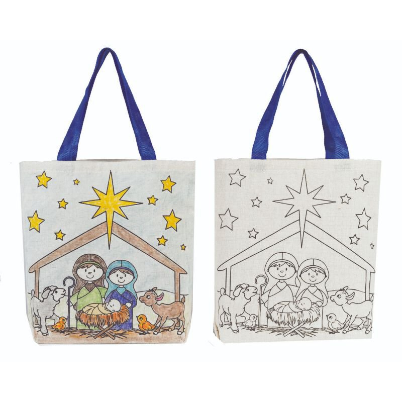 Color Your Own Tote Bag - Kid's Nativity