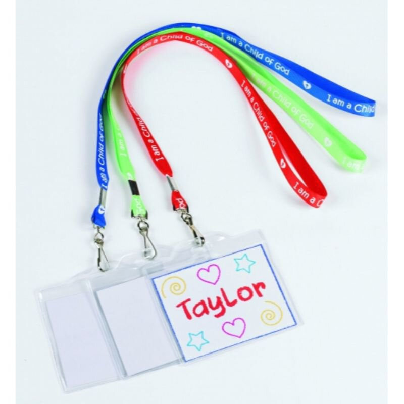 Color Your Own Name Badge with Lanyard Assortment - 36/pk