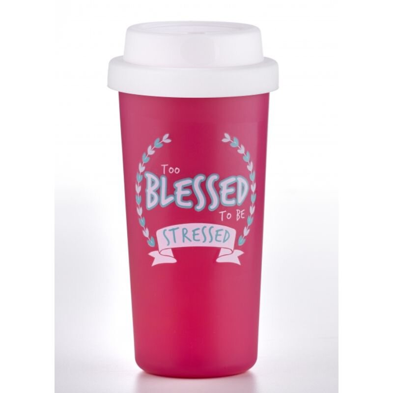 Too Blessed to be Stressed Tumbler - 12/pk