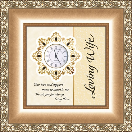 Framed Table Clock General Verse - Loving Wife